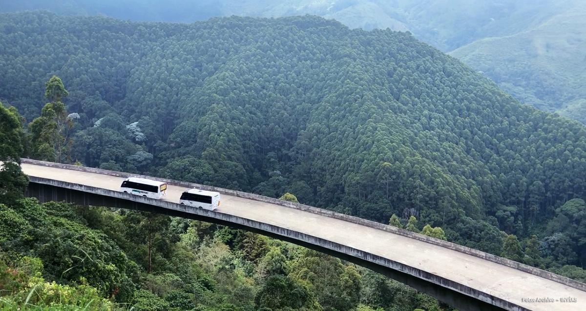 Fotografía de viaducto del proyecto Cruce de la Coordillera Central.