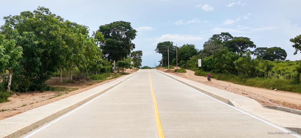 Fotografía de las vías terciarias en el departamento de Sucre.