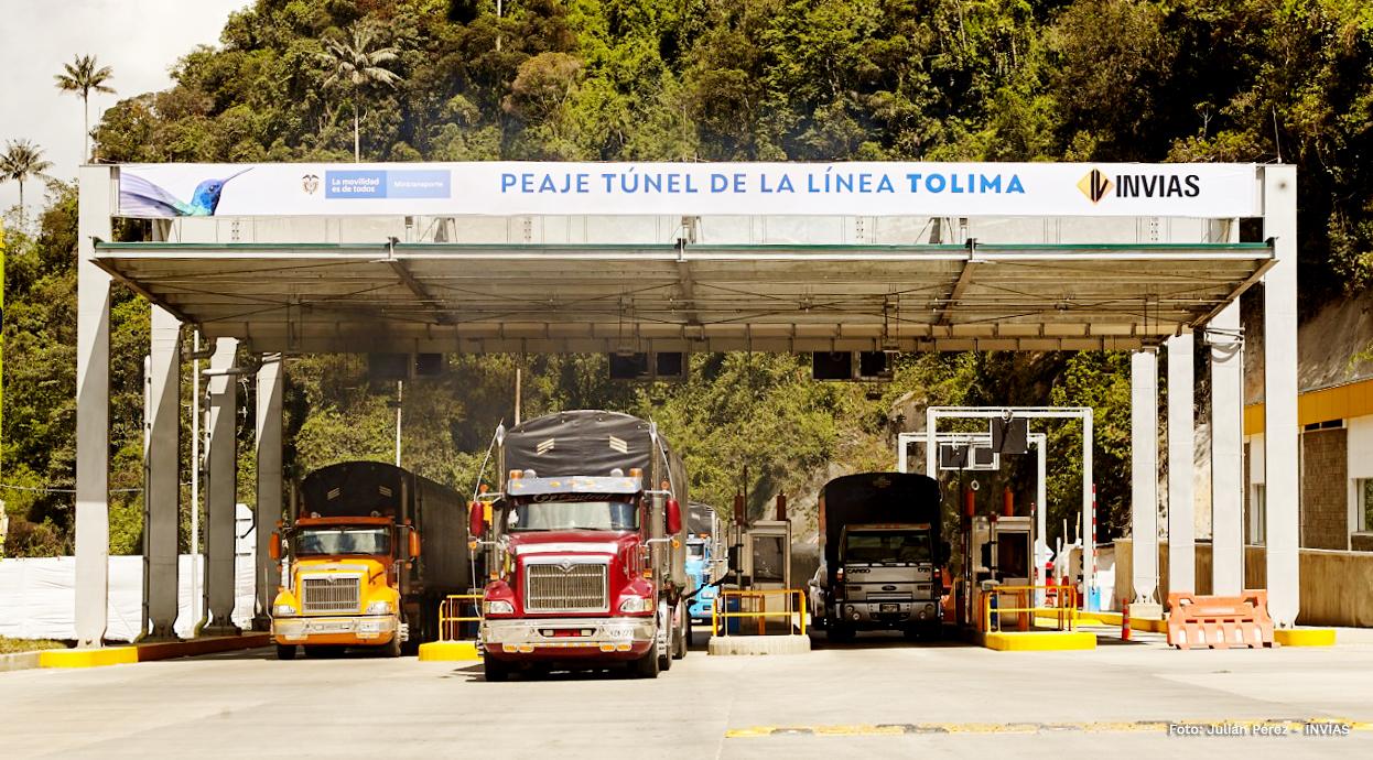 Fotografía del peaje del túnel de La Línea sector Tolima.