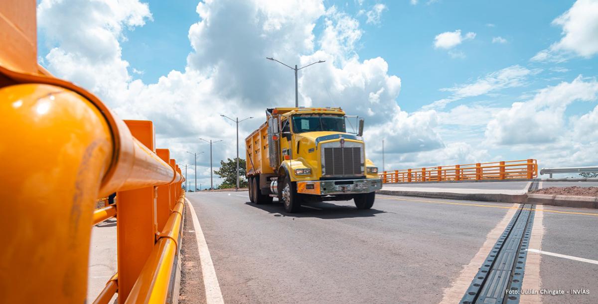Fotografía de transitabilidad segura en las vías nacionales.