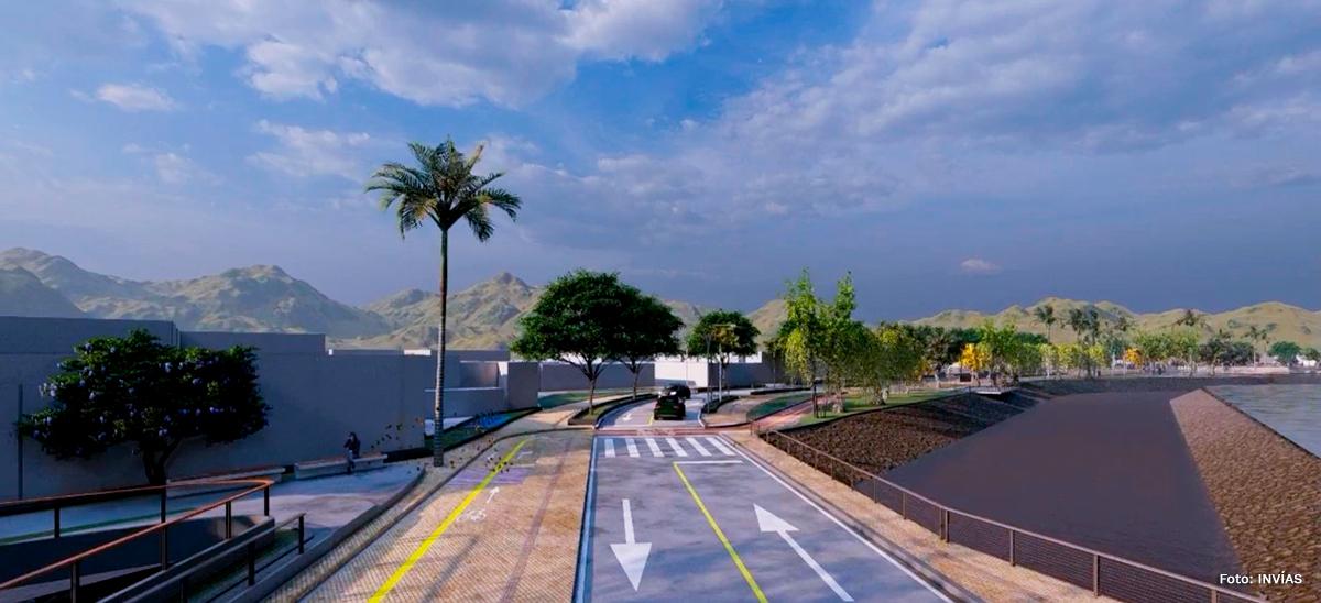 Fotografía de la proyección digital de las obras a ejecutar en la región.