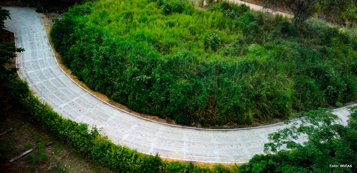 Fotografía de vías rurales de Cundinamarca.